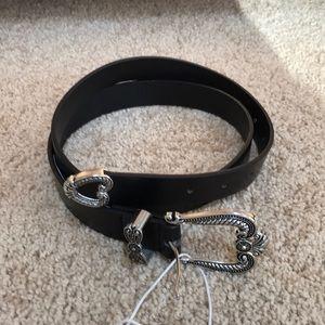 NWT! Bershka black buckled belt .